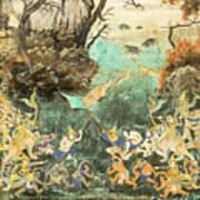 Royal Palace Ramayana 15 Art Print