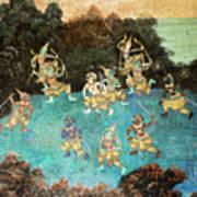 Royal Palace Ramayana 16 Art Print