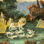 Royal Palace Ramayana 19 Art Print
