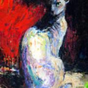 Royal Sphynx Cat Painting Art Print by Svetlana Novikova
