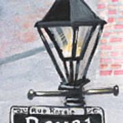 Royal Street Lampost Art Print