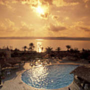 Royal Suite In The Dead Sea Spa Hotel Art Print by Richard Nowitz