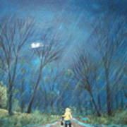 Roy's Rainy Run Art Print