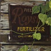 Royston Fertilizer Sign Art Print