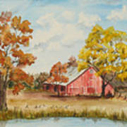 Rt 66 Barn In Bristow Oklahoma Art Print