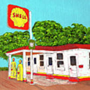 Rt 66 Shell Station Art Print