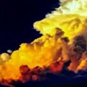Rubber Ducky Elephant Clouds  Art Print