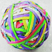 Rubberband Ball I Art Print