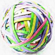 Rubberband Ball II Art Print