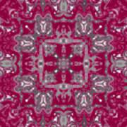 Rubies And Silver Kaleidoscope Art Print