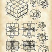Rubik's Cube Patent 1983 - Vintage Art Print