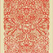 Rubino Red Floral Art Print