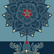 Rubino Zen Flower Art Print