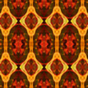 Ruby Glow Pattern Art Print