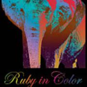 Ruby In Color Art Print