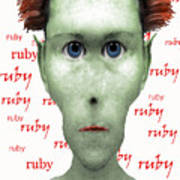 Ruby Ruby Ruby Art Print