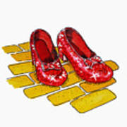 Ruby Slippers The Wizard Of Oz  Print by Irina Sztukowski