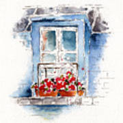 Rue Bernardine Window Art Print