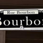 Rue Bourbon Street - New Orleans Art Print