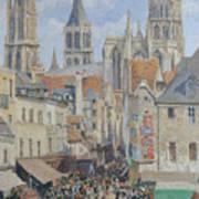 Rue De L'epicerie, Rouen Art Print