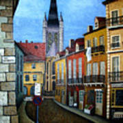 Rue Lamonnoye In Dijon France Art Print