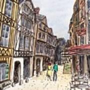 Rue Malpalu, Rouen, France I Art Print