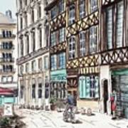 Rue Malpalu, Rouen, France II Art Print