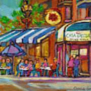 Rue Prince Arthur Casa Grecque Montreal Art Print