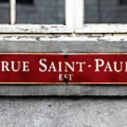 Rue Saint-paul Art Print