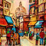 Rue St. Paul Old Montreal Streetscene Art Print