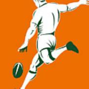 Rugby Player Kicking Art Print