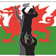 Rugby Wales Art Print