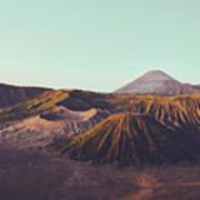 Rugged Mountainous Terrain Mount Bromo At Sunrise Art Print