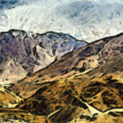 Rugged Mountains Of North India Art Print