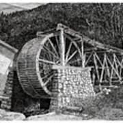 Ruidoso Waterwheel Art Print