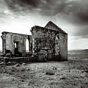 Ruin  Of A Church On The Island Of Skye, Scotland Art Print