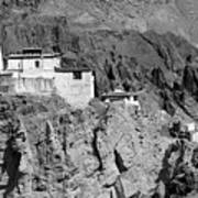 Ruins And Basgo Monastery Surrounded With Stones And Rocks Ladakh Art Print