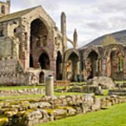 Ruins. Melrose Abbey. Art Print