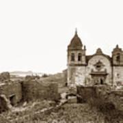 Ruins Of Carmel Mission, Monterey, Cal. Circa 1882 Art Print