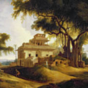 Ruins Of The Naurattan Print by Thomas Daniell