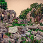 Ruins Of White's Factory - Fallen Blocks Art Print