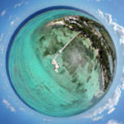 Rum Point Little Planet Art Print