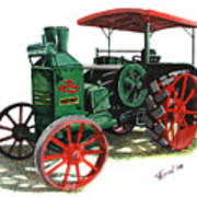 Rumely Oil Pull X Tractor Art Print