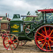 Rumley Oil Pull Tractor Art Print