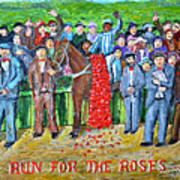 Run For The Roses Art Print