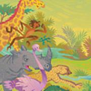 Run For The Zoo Art Print
