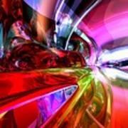 Runaway Color Abstract Art Print
