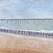 Runners On The Beach Panorama Art Print