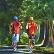 Running Buddies Art Print