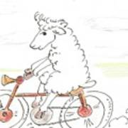 Running Cyclist Cheep Art Print